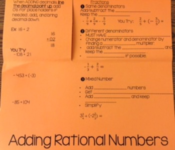 Adding Rational Numbers (Decimals/Fractions)