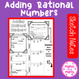 Adding Rational Numbers (Fractions and Decimals) Sketch Notes