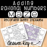 Adding Rational Numbers Maze