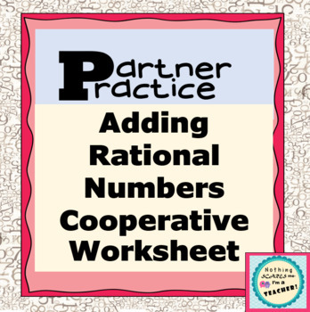 Adding Rational Numbers Partners Practice Matching Worksheet