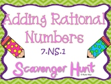 Adding Rational Numbers Scavenger Hunt ~Aligned to CCSS 7.NS.1