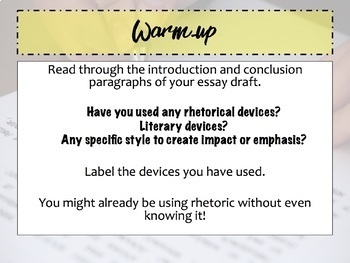 Adding Rhetorical Devices to Essay Writing for Persuasive Power