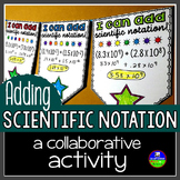 Scientific Notation Pennant Activity for Adding