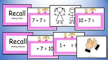 Adding Seven Addition Facts Mental Maths Game, Brain Break or Maths Warm Up