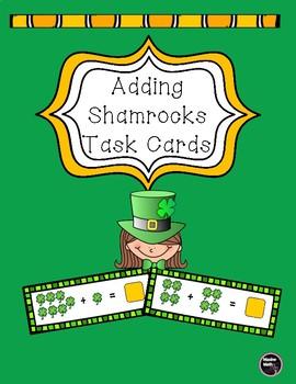 Adding Shamrocks Task Cards