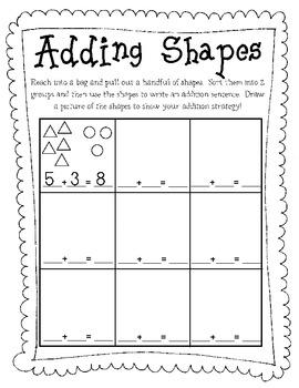 Adding Shapes {Worksheet}