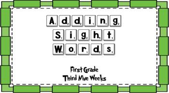 Adding Sight Words First Grade Bundle