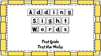 Adding Sight Words First Grade Bundle