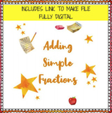 Adding Simple Fractions Worksheets (Editable!)