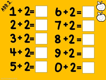 Addition Fact Mats for Student Practice