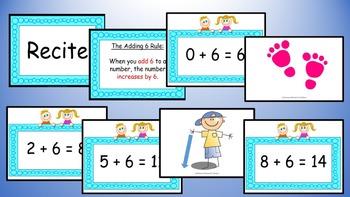 Adding Six Addition Facts Mental Maths Game, Brain Break or Maths Warm Up