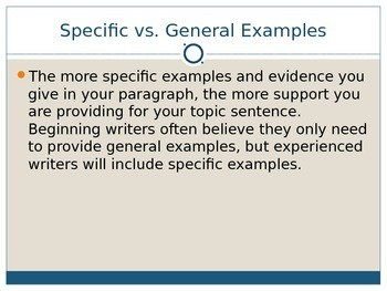 Adding Specific Examples