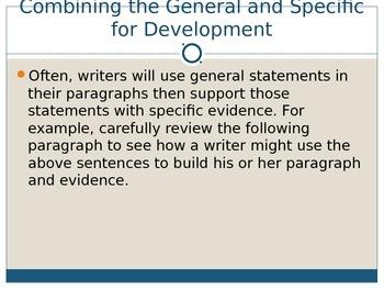 Adding Specific Examples