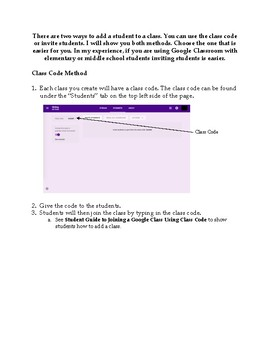Adding Students to a Google Classroom Class