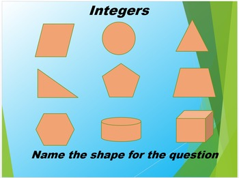 Adding Subtracitng Integers PowerPoint Review with Geometry