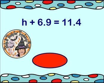 Adding and Subtracting 1-Step One Equations Rational Numbers Smartboard + KEY