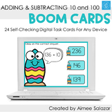 Adding & Subtracting 10 and 100 Boom Cards/Digital Task Ca