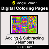 Adding & Subtracting 3 Numbers - Google Forms | Digital Co