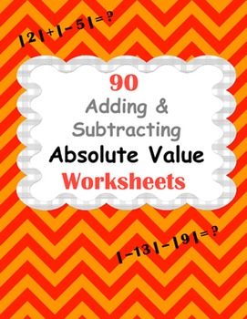Absolute Value Worksheets: Addition & Subtraction