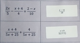 Adding & Subtracting Algebraic Fraction Stickers