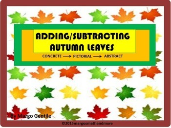 Adding & Subtracting Autumn Leaves - Concrete-Pictorial-Abstract