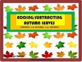 PREPRINTED! Adding & Subtracting Autumn Leaves-Concrete-Pictorial-Abstract