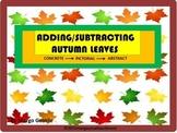 #BTS PREPRINTED Adding & Subtracting Autumn Leaves-Concret
