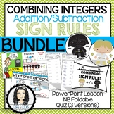 Adding / Subtracting (Combining) Integers BUNDLE