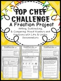 Adding, Subtracting, & Comparing Fractions: CCSS Project, Center, or Assessment