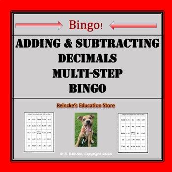 Adding & Subtracting Decimal Mult-Step Bingo (30 pre-made