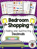 Adding & Subtracting Decimals Money Shopping Real World Activity