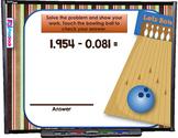 Adding Subtracting Decimals SMART BOARD Game (CSS 5.NBT.B.7)