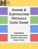 Adding & Subtracting Decimals Card Game