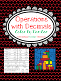 Adding & Subtracting Decimals Color By Number (Holiday Themed!)