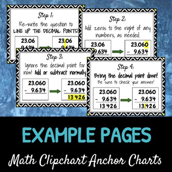 Adding & Subtracting Decimals: DIY Math Anchor Chart CLIPCHART