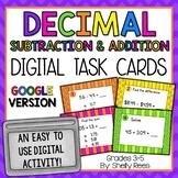 Adding & Subtracting Decimals - Digital Task Cards Google Version
