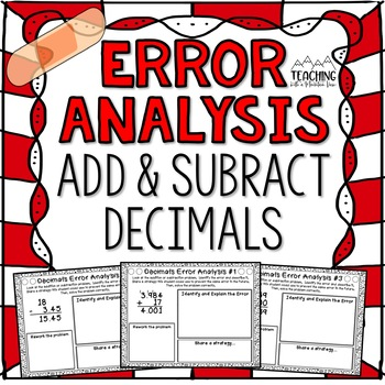 Adding and Subtracting Decimals Error Analysis  {Center, Enrichment, Assessment}
