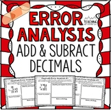 Adding and Subtracting Decimals Error Analysis