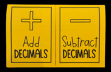 Adding & Subtracting Decimals (Foldable)