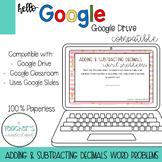 Adding & Subtracting Decimals Word Problems [Google Classr