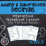 Adding and Subtracting Decimals  6.NS.3