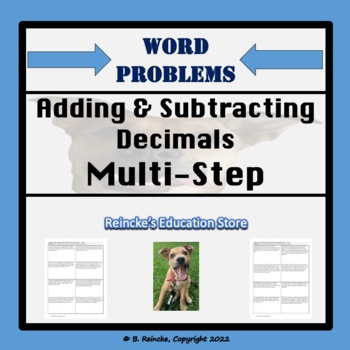 adding subtracting decimals multi step word problems 3 worksheets. Black Bedroom Furniture Sets. Home Design Ideas