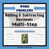 Adding & Subtracting Decimals Multi-Step Word Problems (4 worksheets)