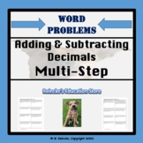 Adding and Subtracting Decimals Multi-Step Word Problems (4 worksheets) 5.NBT.7