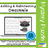 Adding & Subtracting Decimals Mystery Picture Puzzle using Google Sheets