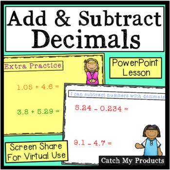 Adding And Subtracting Decimals Quiz Teaching Resources | Teachers ...