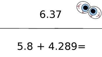 Adding/Subtracting Decimals Scavenger Hunt