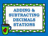 Adding & Subtracting Decimals Stations