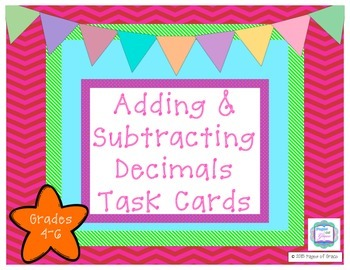 Decimal Addition & Subtraction Task Cards