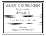 Adding & Subtracting Decimals Task Cards